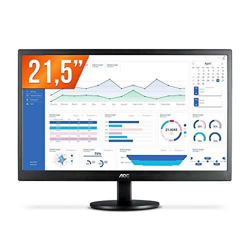 """Monitor Aoc 21.5"""" Led Vga e Hdmi"""