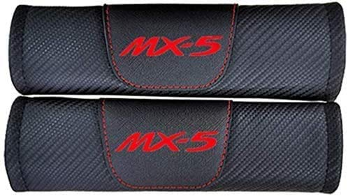 2 Pieces Car Seat Belt Cover Shoulder Padding for Mazda Mx5 Mx 5 Mx-5, Protector Safety Pads Protection Comfort Breathable Soft Warm Car Styling Interior Accessories