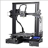 WENHU Ender-3 / Ender-3X Impresora 3D Mainboard Ultra-Silent, Plataforma de Vidrio de carborundum V-Slot Reanume Fallo de alimentación Fallo de impresión Kit Hotbed