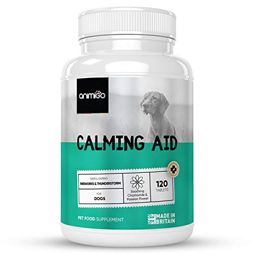 Dog Calming Tablets - 120 Tablets - Natural Calm Relief For Dogs, Stress Supplement Treatment For Small, Medium & Large Dogs + Puppy Calm Supplement, Passion Flower, Chamomile, Magnesium & Vitamin B