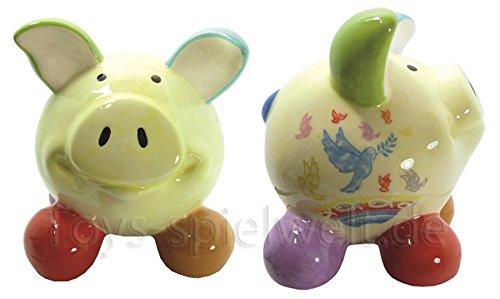 Swiggie Sparschwein Glücksschweinchen Friedenstaube Spardose 8,5 cm 13cm 15,5 cm: Größe: 15,5 cm