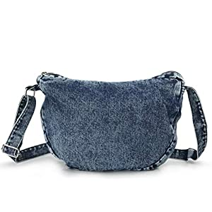 Denim Indigo Hobo Cross Body Bag Women's Shoulder Bag