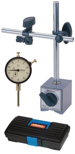 Mitutoyo 64PKA075 Tool Kit, 0-1' Range Dial Indicator, Magnetic Base, Plastic Case