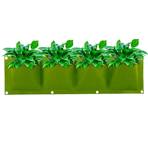 CITÉTOILE 4 tasche per piante da appendere verticalmente, per piante da giardino, veranda, piante aromatiche, fiori, decorazione per la casa, verde