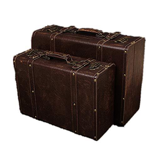 Maletas / baúles de equipaje de estilo vintage Conjunto de 2 madera...