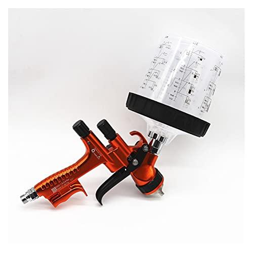 Pistola Pintura LVLP Pistola de pulverización por Gravedad de la Pistola de pulverización 1.3mm con 60 0CC Pintura de Mezcla de Pintura Pistola de Pintura Profesional con Pistola de rociado Adpater