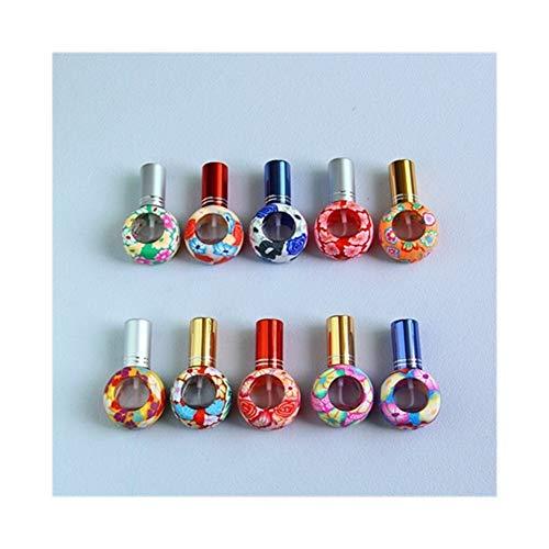 QHKS Le verre de 5pcs pulvérisation de la pâte polymère décorées Parfum bouteilles vides des mini-échantillon de pulvérisation cosmétiques bouteille de bouteilles Pefume Craft