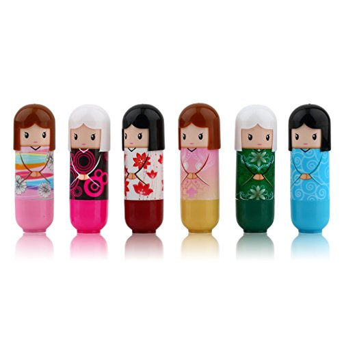 Leoboone Kimono-Puppen-Lippenstift-nettes reizendes Muster-Geschenk für Mädchen-Dame Colorful Girl...