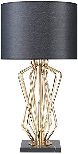 Lámpara Escritorio Lámpara de Mesa Decorativa posmoderna de Metal Luz de Lujo Creativa Lámpara de Mesa de cabecera Personalidad Lámpara de Mesa de diseño 35 * 65cm