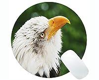 カスタムオリジナルラウンドマウスパッド、動物フライングハクトウワシテーマラウンドマウスパッド