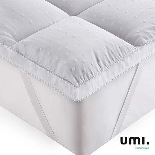 UMI. Essentials Colchón de Microfibra,Cubrecolchón,Antialérgico,Suave-(135x190cm)