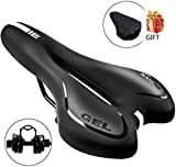 SGODDE Comfortable Bike Seat, Gel Bicycle Saddle Padded Professional Waterproof Road Bike Saddle for Men,Women, Riding Bike, Mountain Bike