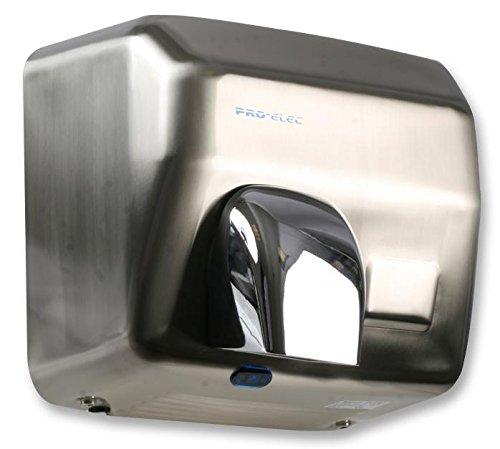 Pro Signal PEL00878 Splash and Vandal Resistant Brushed Steel Automatic Hand Dryer