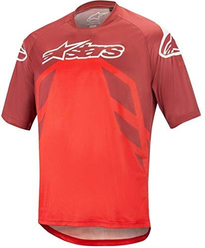 Alpinestars Herren Racer V2 Ss Jersey, Herren, Racer V2 Ss Jersey, Burgunderrot hell rot weiß, XX-Large