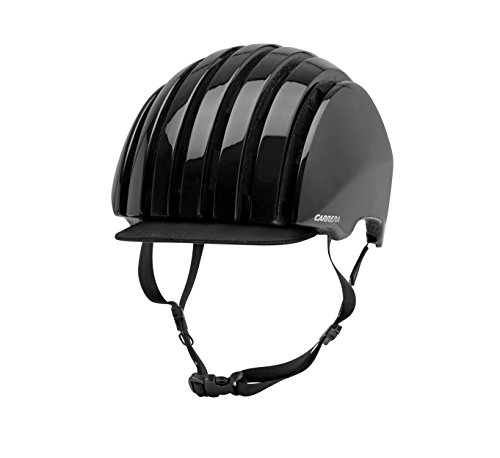 Carrera Foldable CRIT Fahrradhelm, Black Shiny, L