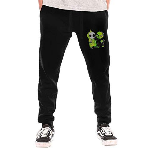 Qian Mu888 Baby Grinch and Jack Skellington - Pantalones largos para hombre, con bolsillos, para invierno, al aire libre