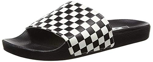 Vans - Chanclas para mujer Slide-On, Negro (Checkerboard White), 42 EU