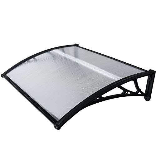WerkaPro 10845 - Marquise en Polycarbonate - 80x120cm - Noir - Traitée anti UV