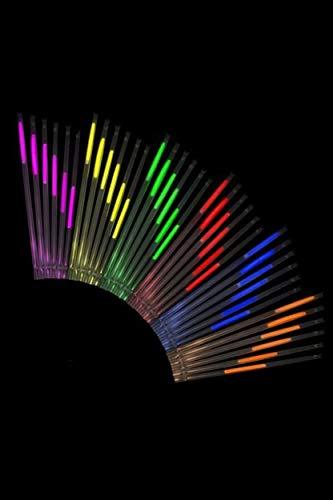 Cannuccia luminosa Premium – Confezione da 25 – 5 colori assortiti