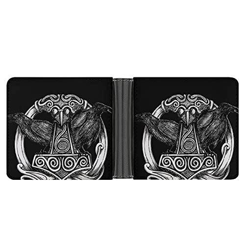 Viking Runes - Cartera para hombre con capacidad para 8 tarjetas y 10 billetes, ideal para viajes