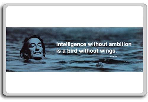 Intelligentie zonder ambitie is een vogel zonder vleugels - motiverende citaten koelkast magneet