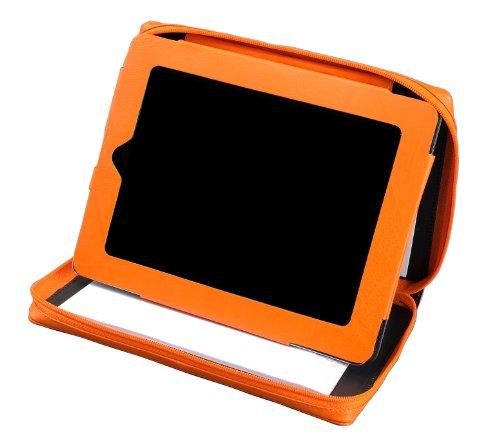 Alassio 41194 - Tablet-PC hoes, van echt leer, oranje