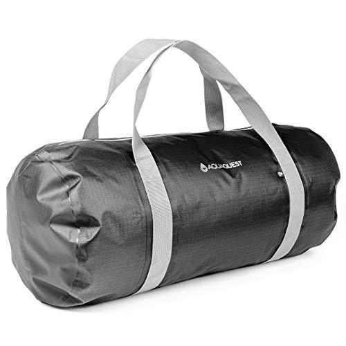 Aqua Quest Kuta Duffel - Wasserabweisende 30L Reisetasche- Ideal für Fitness, Strand, Sport, Pool, Reise - Schwarz…
