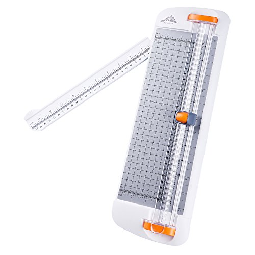 Jielisi cortadora de papel titanio 12 inch A4 cortador con automático Seguridad Safeguard, Blanco (909-2A)