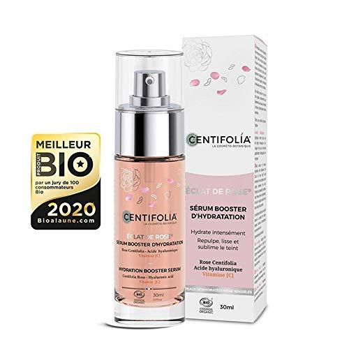 Centifolia Éclat de Rose Hydratation Sérum Booster d'Hydratation 30ml Bio pour Peau Normale, Peau Sèche