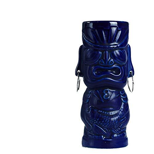 zhqingyu Tiki Cup Tiki Cup Bar Taza para Mezclar Vaso de cóctel de cerámica 450ml