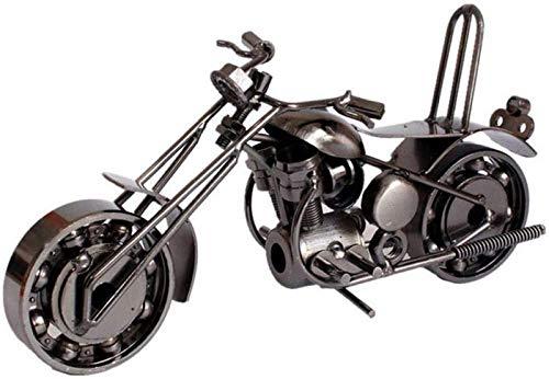JJDSN Estatuas de Hierro Forjado Artesana Decoracin de Metal, Modelo de Motocicleta Hecho a Mano Vintage, Regalos creativos para la decoracin del hogar Amantes del Motor Nios 20x11x8cm