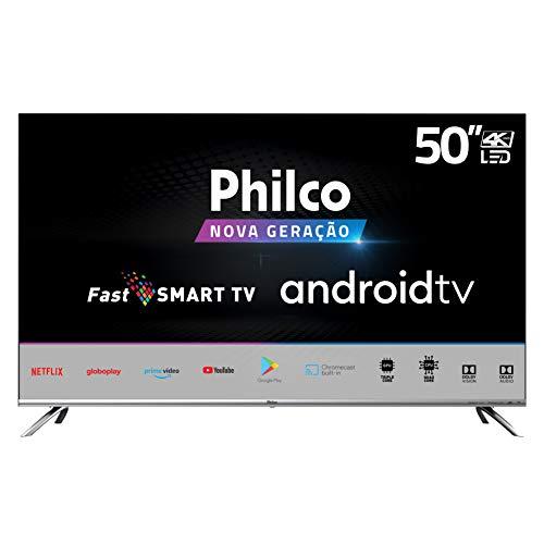 Smart TV Philco PTV50G71AGBLS 4K LED - UHD, borda infinita, comando de voz