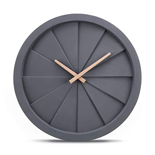 Cander Berlin MNU 6035 Designer Wanduhr aus Beton mit lautlosem Uhrwerk - 35 cm Ø - kein nerviges Ticken