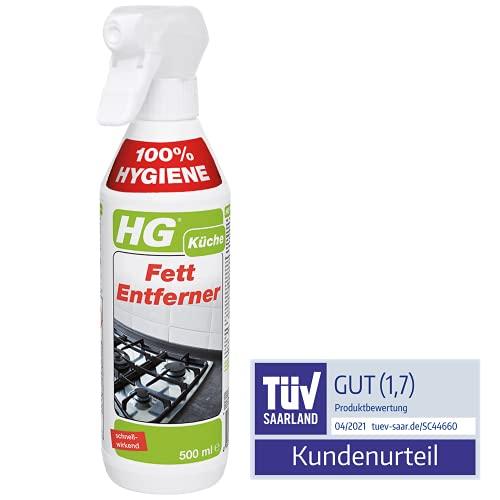 HG Fett-Entferner 3er Pack (3x 500 ml) – Für die Küche - Nachfüllbar - Sichere Verwendung, 1.5l