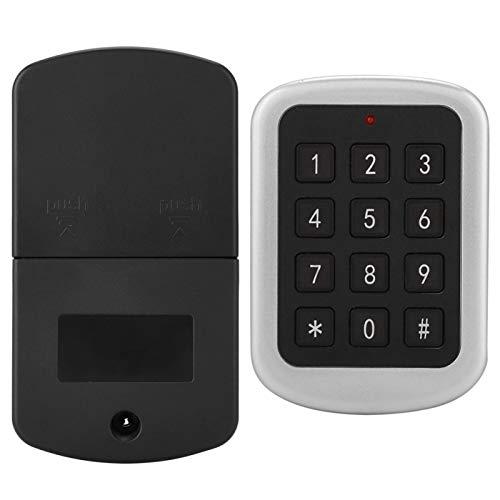 Asixxsix Bloqueo de código de contraseña, Sistema de Seguridad Digital para el hogar Bloqueo de código de contraseña electrónico Bloqueo de código, para armarios, armarios, zapateros, cajones