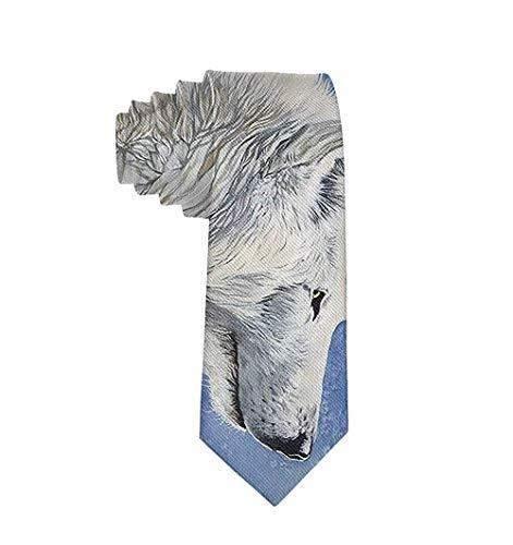 Hombres Casual Moda Lobo Tigre Estampado Poliéster Seda Casual Caballero Corbata Regalo-Talla única