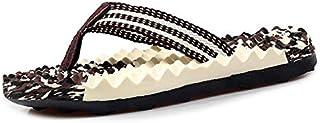 Men Sport Flip Flops Comfort Casual Thong Sandals Outdoor Summer Beach Shoes (Color : Brown, Shoe Size : 45)