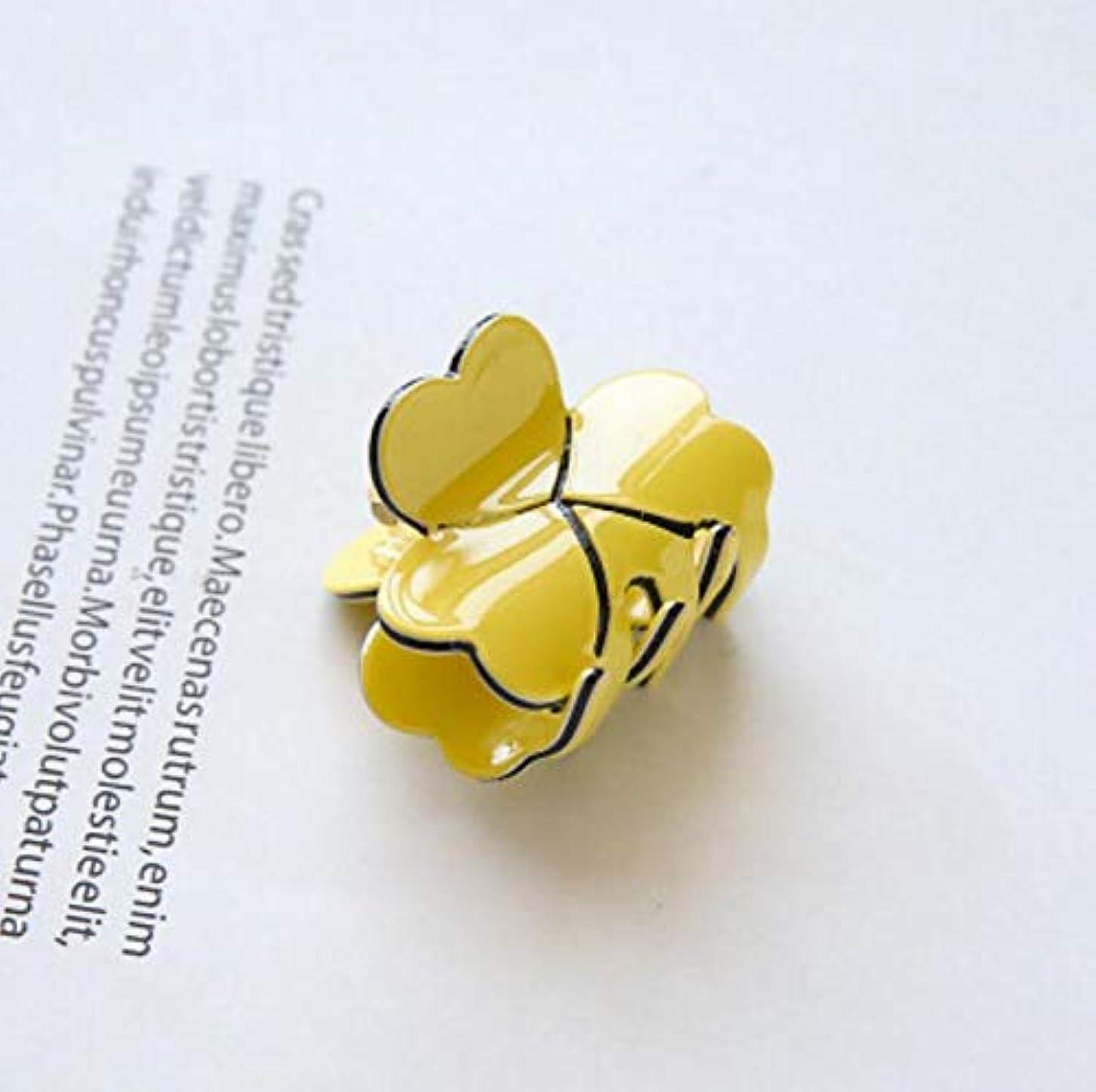 望まない樫の木ふつうHuaQingPiJu-JP 1Pc DIYマジックヘア女性の女の子ヘアピンヘアクリップディナーパーティーヘアスタイリングツールアクセサリー(イエロー)