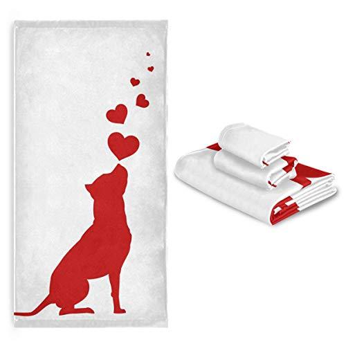 CaTaKu Juego de toallas de baño, 3 piezas, 1 toalla de baño, 1 toalla de mano, 1 toalla de perro, juego de 3 toallas suaves multifunción, para el hogar, cocina, hotel, gimnasio, natación, spa.