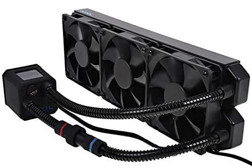 Alphacool Eisbaer 360 CPU - Refrigeración (Procesador, 63,85 cfm, LGA 1150 (Zócalo H3), LGA 1151 (Zócalo H4), LGA 1155 (Socket H2), LGA 1156 (Socket H), LGA 1366, 108 m³/h, Negro, 3,03 kg)