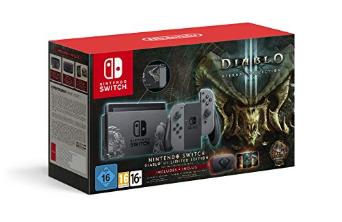 Nintendo - Nintendo Switch Limited Edition Diablo III Console with Grey Joy-Con + Diablo III DLC (UK) /Switch (1 GAMES)