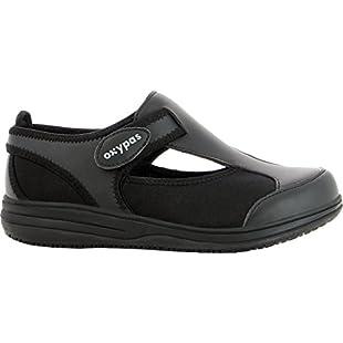 Oxypas Medilogic 'Candy'Lightweight, Washable Nursing Shoes Designed for Medical Professionals (EU 41, Black)