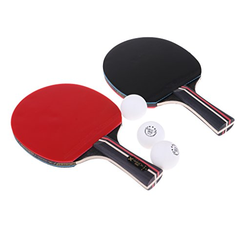 Best Deals! CUTICATE Table Tennis Set with 2 Ping Pong Paddles and 3 Ping Pong Balls for Practice - ...
