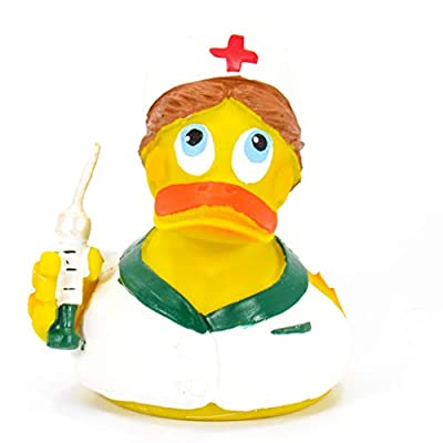 Nurse Rubber Duck Bath Toy | All Natural, Organic, Eco Friendly, Squeaker | Imported from Barcelona, Spain