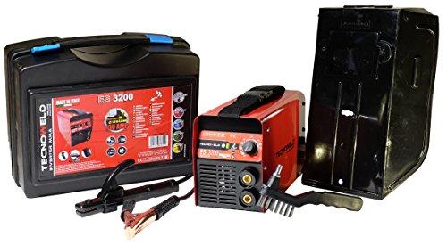Proweltek-Awelco PR1110 ES 3200 Inverter lasapparaat met koffer/masker, 130 A, Rood