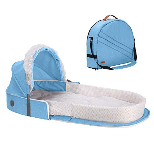 Caroeas Babycare Travel Bassinet, Portable Baby Travel Bed...