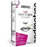 andmetics LIP wax strips: Lippen Kaltwachs Enthaarung Streifen fürs Gesicht,Oberlippe