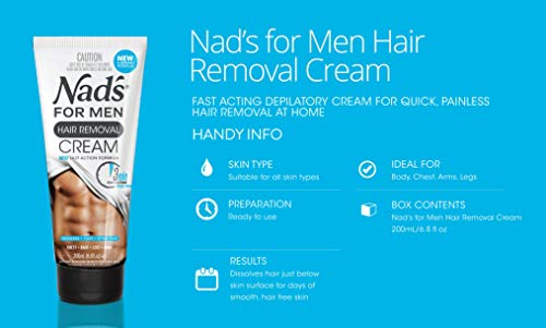 Nad's For Men Hair Removal Cream, 200ml