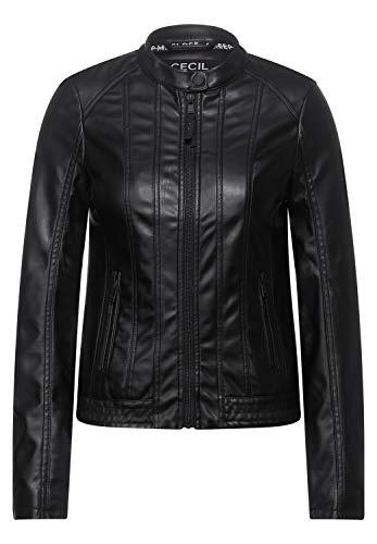 Cecil Damen Fake-Lederjacke aus PU Black M
