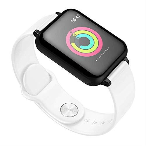 Iis Mur hanjnwi Reloj Inteligente Impermeable Monitor de Ritmo cardíaco Presión Arterial Modo Deportivo múltiple Reloj Inteligente Mujeres Hombres Usable como se Muestra Blanco